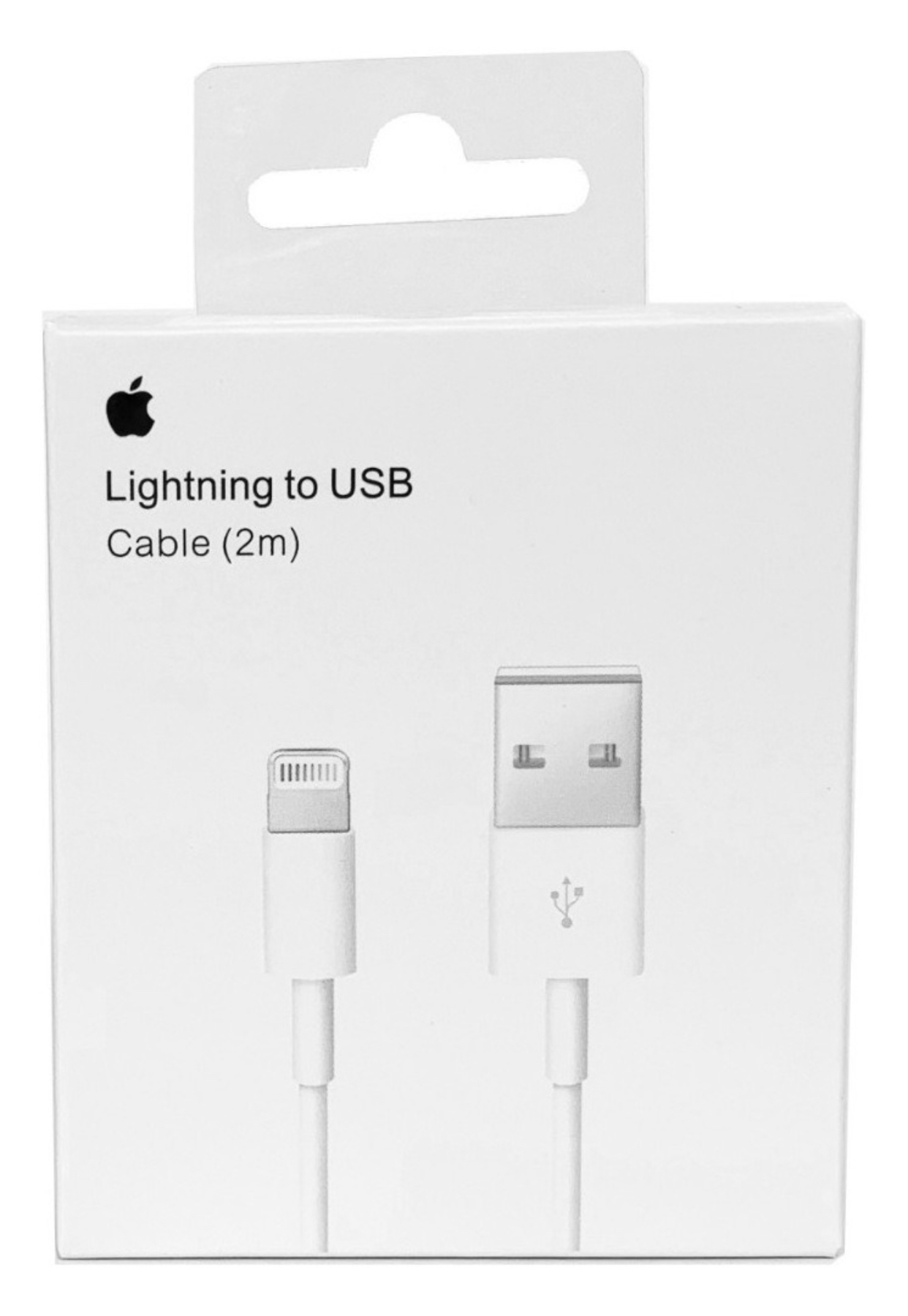 Apple cable  Lightning a USB (2 m) $ 8,20 USD